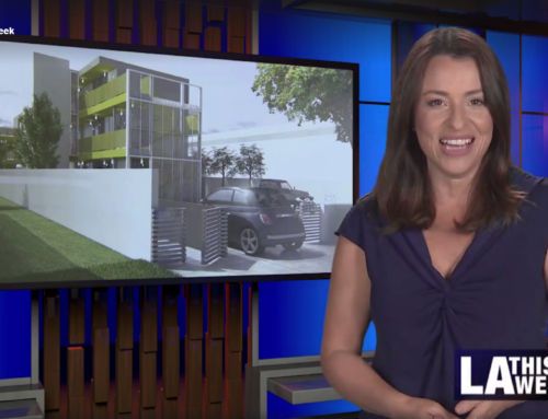 """""""An area in South LA is getting a type of housing that will help homeless people receive shelter!"""" – LA This Week features FlyawayHomes"""